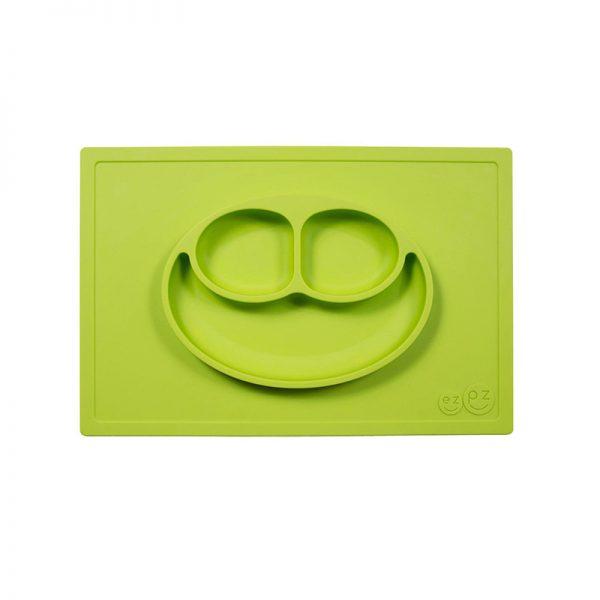 Individual con plato verde