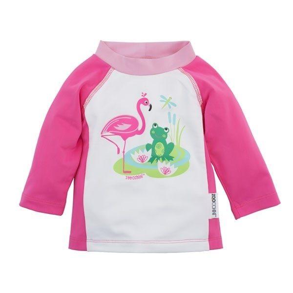 Camiseta de baño rosa flamingo Zoocchini 12-24M