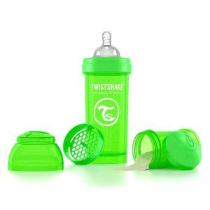 Biberón Twistshake 8 onz color verde