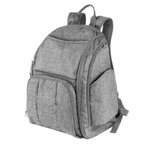 Born pañalera mochila con cambiador gris