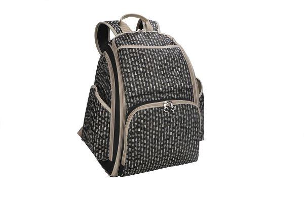 Born pañalera mochila con cambiador negra/cafe