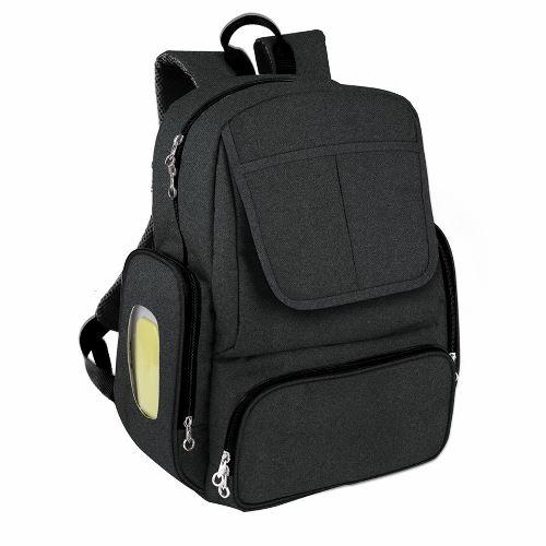 Born pañalera mochila con cambiador negra
