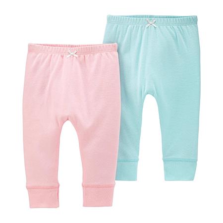 Pantalon 2 pzas rosa/ celeste Niña carter´s 12 M.