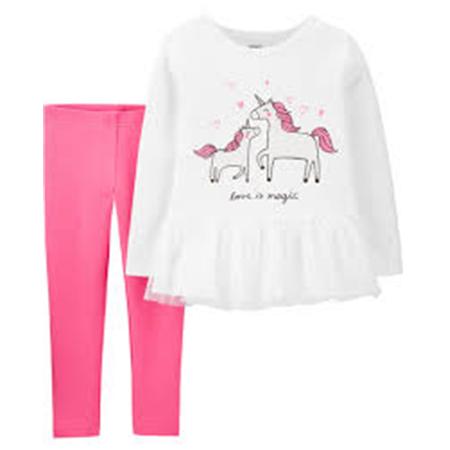 Conjunto 2 piezas Leggins y blusa Unicornio 9m Carters