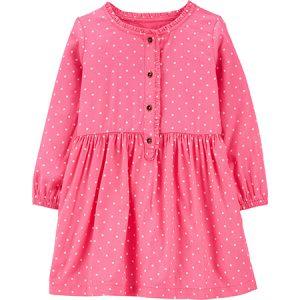 Vestido Rosado diseño de puntos con botones 6m Carters