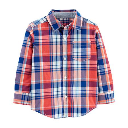 Camisa Manga Larga a Cuadros Niño 6m Carters