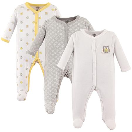 Set de pijama con pie 3 pzas unisex