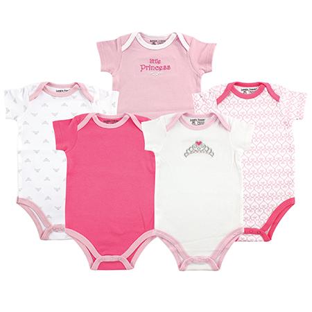 Set 5 mamelucos Princesa niña 3-6 meses