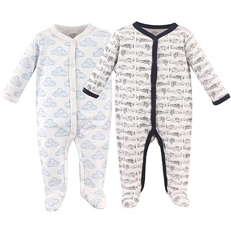 Set de 2 pijamas con pie niño Avión