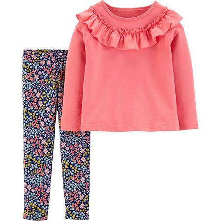 Conjunto 2 piezas Floral Pantalón y Blusa Manga larga Niña Carters 9 meses