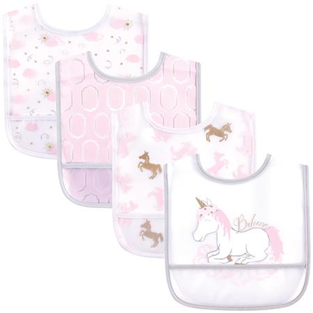 Set de 4 Baberos unicornio Plastic