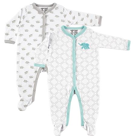 Set de 2 pijamas con pie Unisex