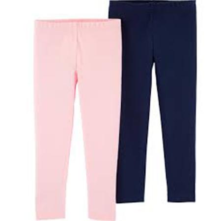 2 Pack Leggins Blue/pink Carter´s 6 meses