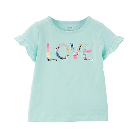 Blusa M/C  aqua love niña 9 M