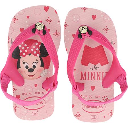 Hawaiana niña rosado claro/rosado oscuro Minnie talla 17-26
