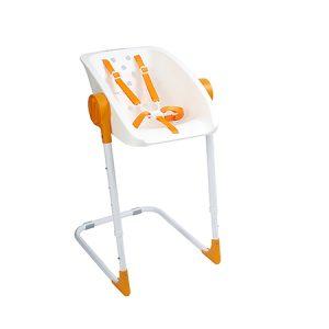 Silla de ducha para bebé, blanco/naranja Primo