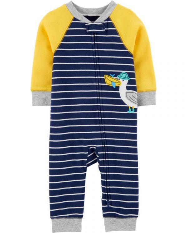 Pijama M/L sin pie azul/amarillo niño 6 meses Carter´s