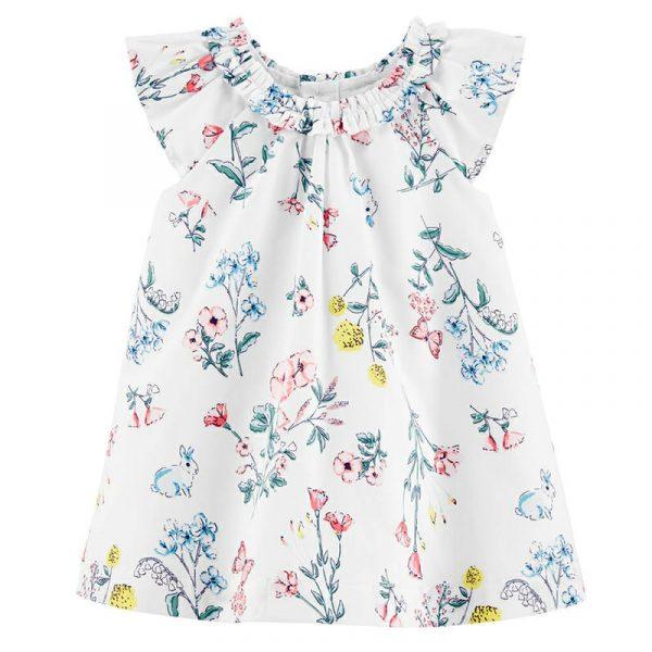 Vestido White floral niña 12 meses Carter´s