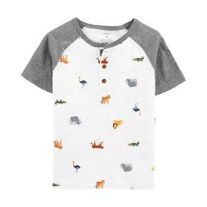 Camisa m/c Animal print Niño 9M Carter´s