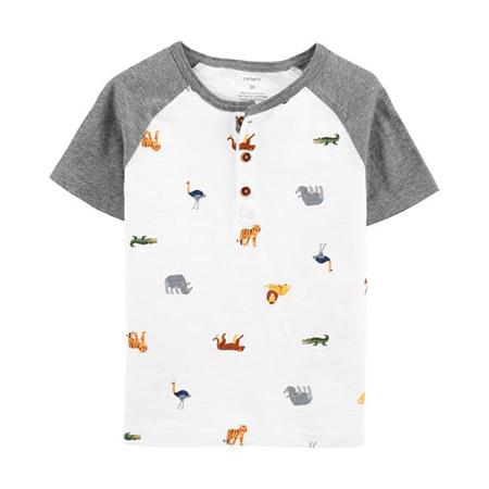 Camisa m/c Animal print Niño 12M Carter´s