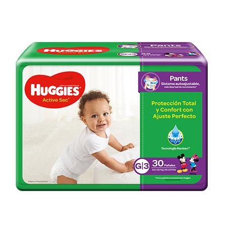 Pañales Active Sec Huggies G/3