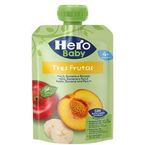 Colado Hero baby Tres frutas manzana, banana y durazno.