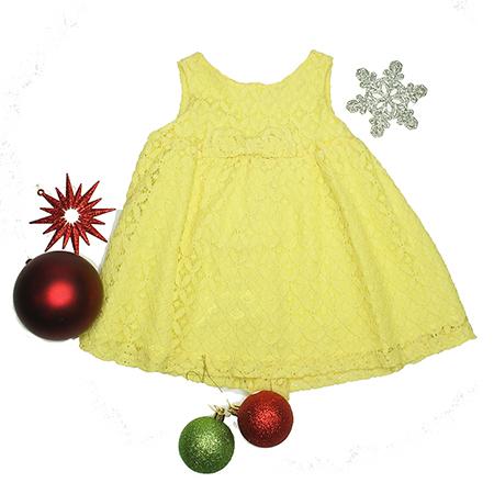 Vestido S/M color amarillo niña12 M