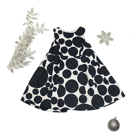Vestido S/M color blanco/negro niña 24 M