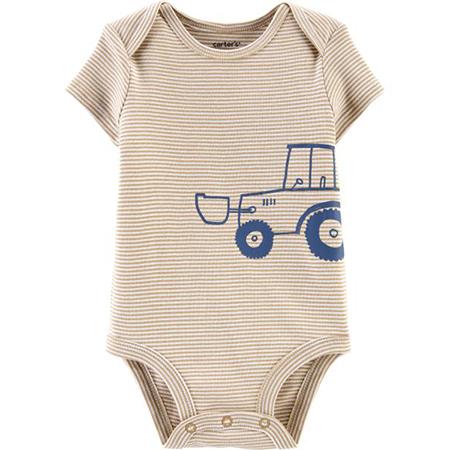 Enterizo M/C beige tractor niño 6M Carter´s