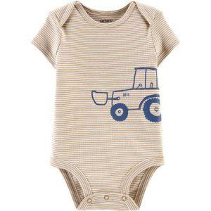 Enterizo M/C beige tractor niño NB Carter´s