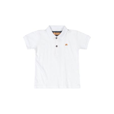 Camisa m/c con Cuello Blanca para Niño 12M