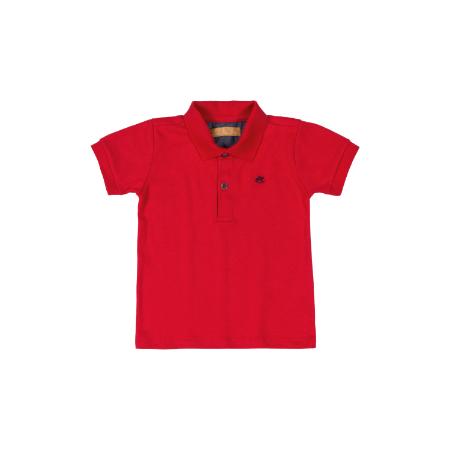 Camisa m/c con Cuello Roja para Niño 12M