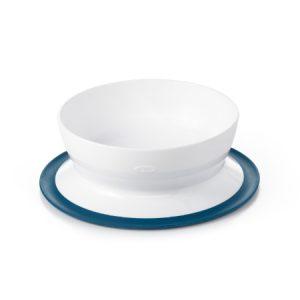 Plato Hondo con Ventosa – Azul marino