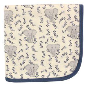 Frazada  receptora y multiusos, elefante azul Niño