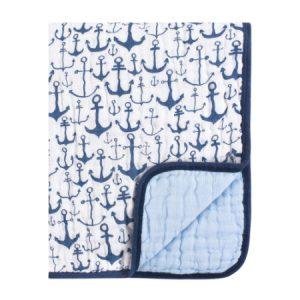 Manta del edredón de  muselina del algodón de  ancla azul Niño
