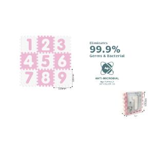 Alfombra Rompecabezas Antibacterial Numeros 9PCS